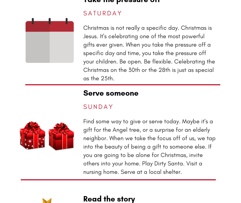 How not to make your grown kids hate Christmas, part 2